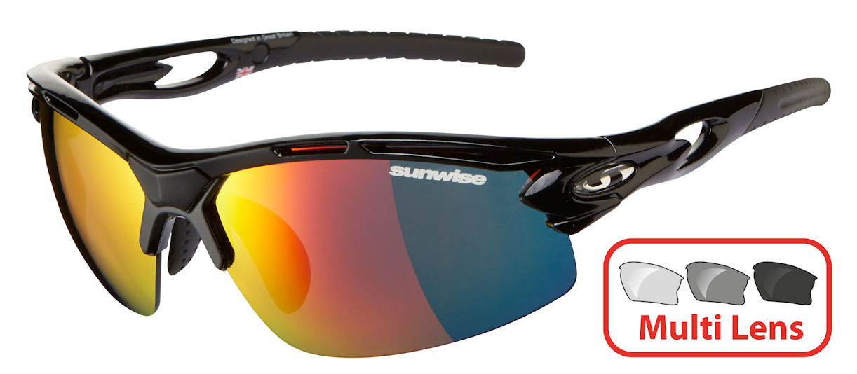 Sunwise Vertex (Black) RX Prescription 4 Lens Set