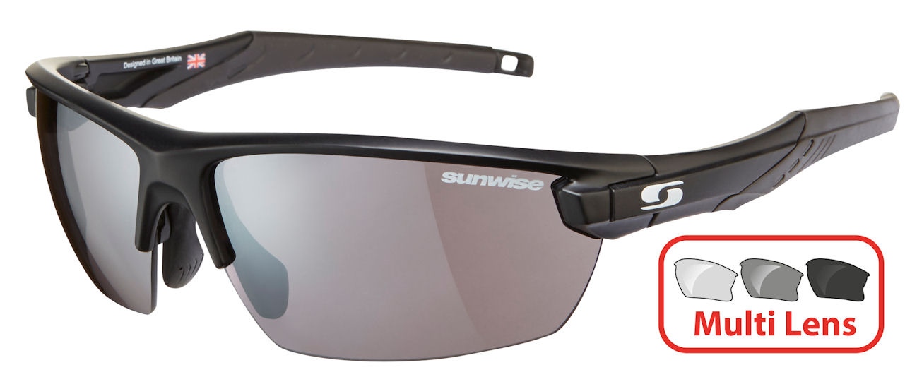 Sunwise Vista (Black) RX Prescription 4 Lens Set