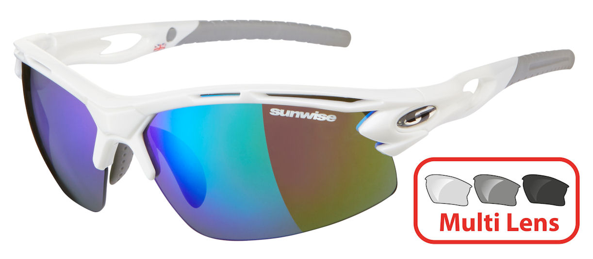 Sunwise Vertex (White) RX Prescription 4 Lens Set