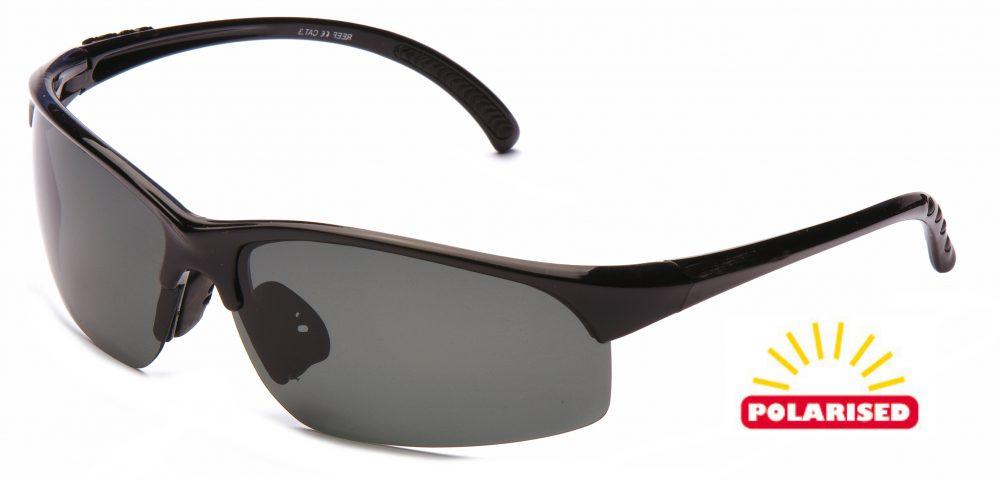 8f6e4d32085 Eyelevel Reef (Grey). Unisex style. Shiny Black frame – Grey POLARISED  lenses ...