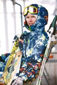 Snowboarder - ski goggles