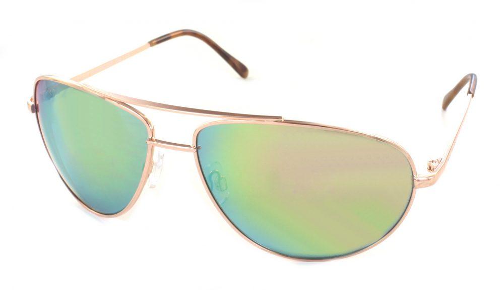 Bloc Hurricane Gold Green Mirror Sunglasses For Sport
