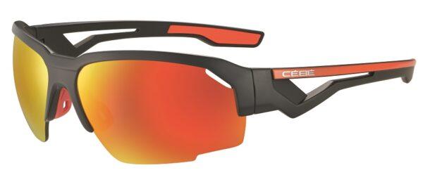 Cebe Hilldrop prescription sunglasses - matte grey orange CBS012