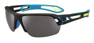 Cebe S'Track medium prescription sunglasses - black blue yellow