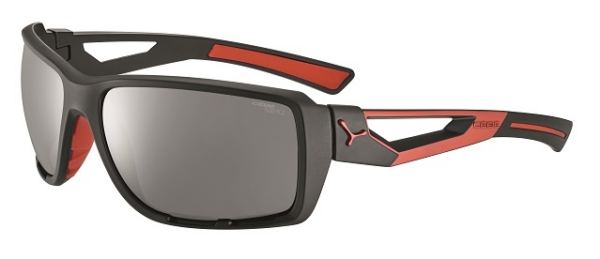 Cebe Shortcut prescription sunglasses - matte black red