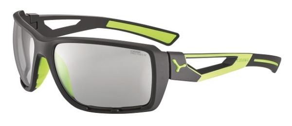 Cebe Shortcut prescription sunglasses - matte grey lime