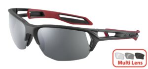 Cebe STRACK 2.0 M CBS220 Matt Black Chilipepper - Zone Polarised Grey + Clear