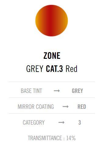 Cebe Zone Grey Red lens