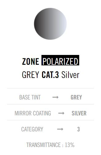 Cebe Zone Polarised Grey Silver