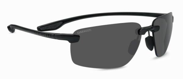 Serengeti Erice 8504 - Shiny Black - PHD 2 Polarised CPG