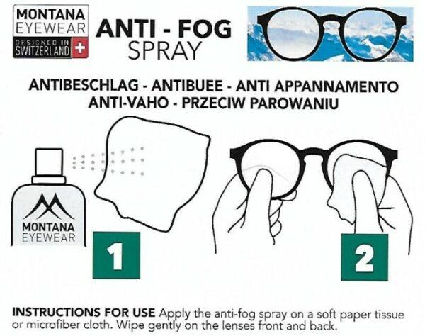 Montana anti-fog spray - info