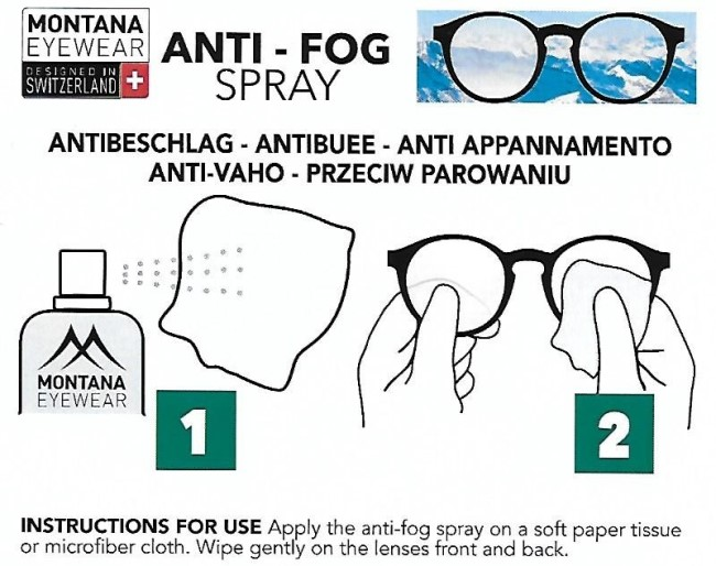 Montana anti-fog spray - info