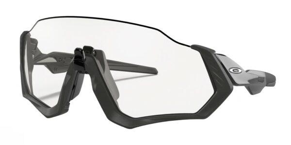 Oakley Flight Jacket - Steel Black Ink - Clear Black Iridium Photochromic - 940107