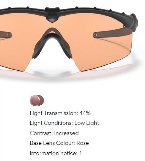 Oakley Prizm TR45 lens info