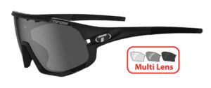 Tifosi Sledge (Matte Black) 3 Lens Interchangeable Set