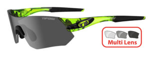 Tifosi Tsali (Crystal Neon Green) 3 Lens Interchangeable Set